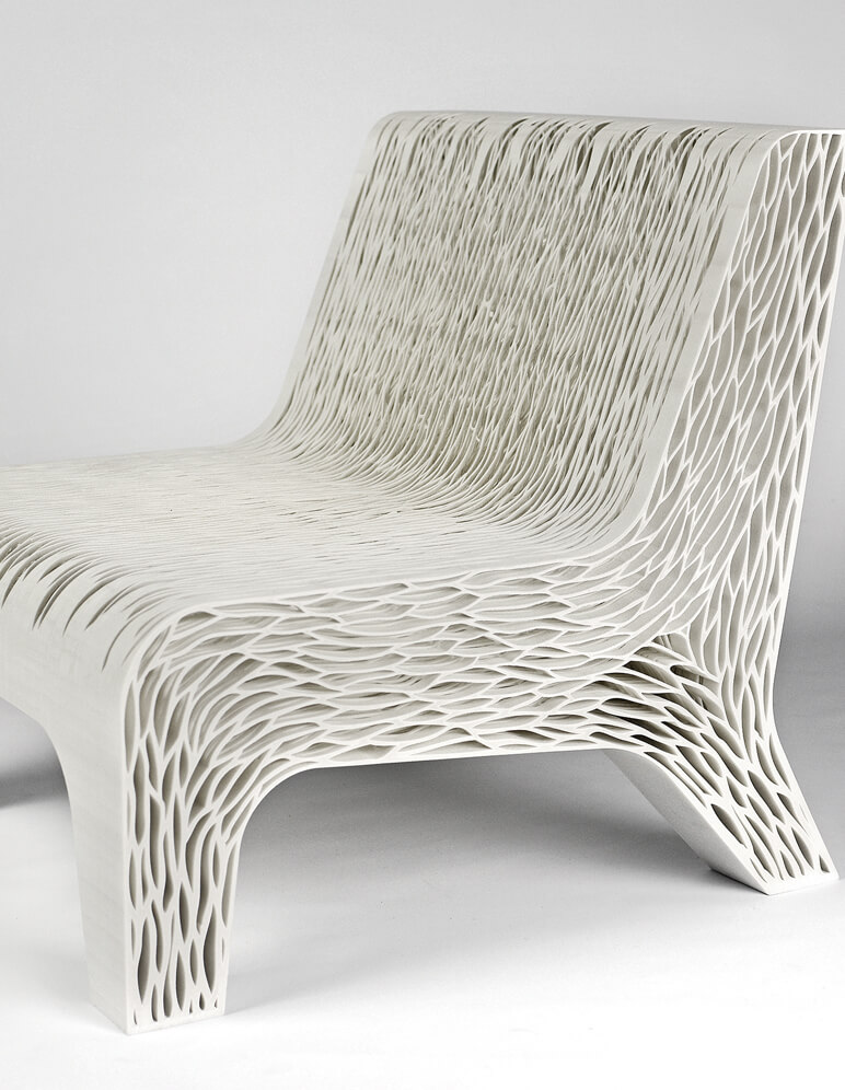 Biomimicry 3d printed soft seat