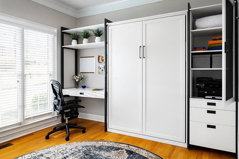 White closet doors